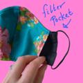 Men Grey Mask with Filter Pocket