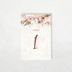 Printable Table Numbers | DIY Wedding | Boho Florals | Barbados