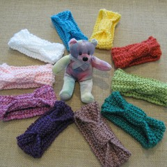 Hand knitted baby headbands