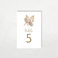 Printable Table Numbers | DIY Wedding | Boho Florals | Tahiti
