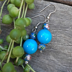 Blue Jasper Drop Earrings