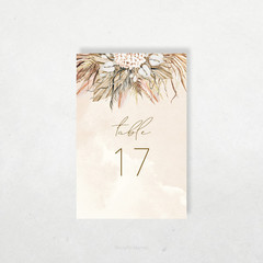 Printable Table Numbers | DIY Wedding | Boho Florals | Seychelles