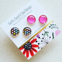 Combo Studs - Two pairs of stud earrings.