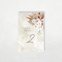 Printable Table Numbers | DIY Wedding | Boho Florals | Coachella