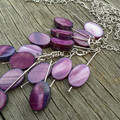 Oval Purple Shell Necklace