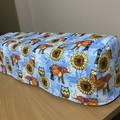 Cricut (Maker/Explore Air2) Dust Cover - Blue Owls/Sunflower/Elephants