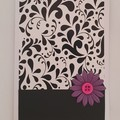 Greeting Card - Scrolls and Flower