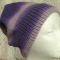 Unisex adult hand knit slouchy-beanie of 100% wool 2/2