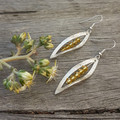 Silver Leaf with Mellow Yellow Swarovski crystals