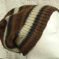 Unisex adult hand knit slouchy/beanie of 100% wool 1/2