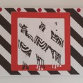 Greeting Card - Zebra Party