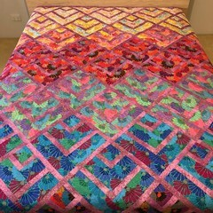 THOUSAND FLOWERS  handmade quilt