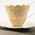 Jane Austen literary teacup - teacup made from book pages - literary curio
