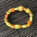 Yellow wooden bracelet - Beads - Boho