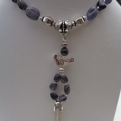 GEMSTONE NECKLACE - IOLITE