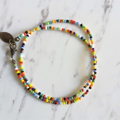 Simple Dainty Tribal Hippie style Colourful Rainbow seed bead layered bracelet