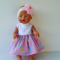 Dolls clothes to fit Baby Born and 41 to 46 cm dolls