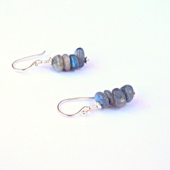 Labradorite and Sterling Silver Stack Earrings