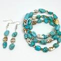 Turquoise Gemstones + Shell Jewellery Set