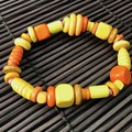 Yellow wooden bracelet - Beads - Boho