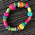 Mixed colours wooden bracelet - Beads - Boho
