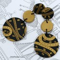 Fat Cat Originals  *You've Got The Power To Know* Statement Earrings