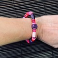 Purple Pink wooden bracelet - Beads - Boho