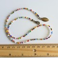 Dainty Unique Artsy Modern style Colourful Rainbow seed bead layered bracelet