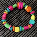 Mixed colours wooden bracelet - Beads - Boho