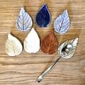 Leaf Teaspoon holder - tea strainer holder- teaspoon rest - Chopstick rest