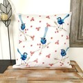 Splendid Blue Wren Cushion Cover Australian Bird