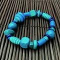 Blue wooden bracelet - Beads - Boho