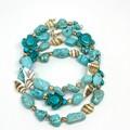 Turquoise Turtle Wrap Bracelet