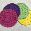 4 Rainbow face scrubbies