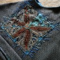 Wool Cape with Hand Embroidery, SPECIAL SALE