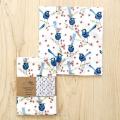 Ladies Handkerchief Australian Blue Wren Bird single Hankie
