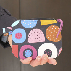 Licorice print makeup coin purse