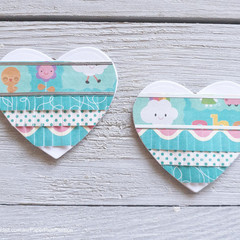 Fringed Heart Altered Paperclips
