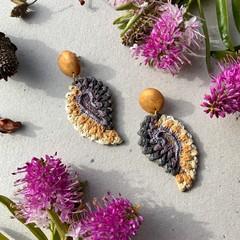 Polymer clay earrings - Gold Leaf