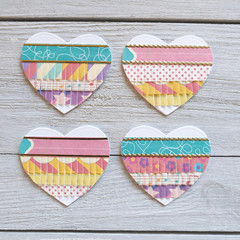 Paper Fringed Heart Embellishments