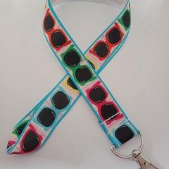 Sunglasses print lanyard / ID holder / badge holder