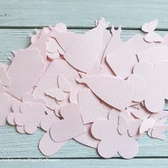 Mixed Shapes - Textured Pink