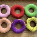 6 pack of felt donuts