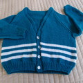 SIZE 6 -7yrs  - Hand knitted cardigan  by CuddleCorner, unisex