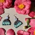 Polymer clay earrings - statement earrings Flora