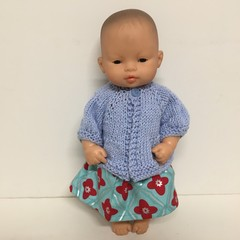 Miniland Dolls Knitted Cardigan to fit 32cm Dolls