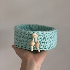 Recycled T-shirt yarn bowl
