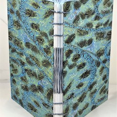 Handmade Journal or Sketchbook using Coptic Stitch with French Twist, Lays Flat