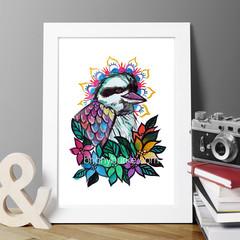 Kookaburra Diva 8 x 10 Inches Print.