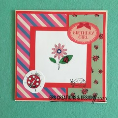 Sweet Flower & Laydybird Children's Card